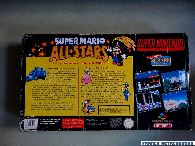 Console Super Nintendo pack Super Mario All Stars FR