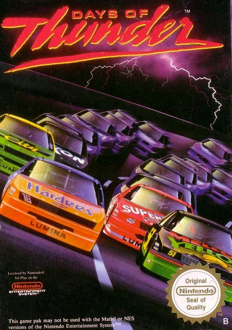 days of thunder nintendo nes retrouvé